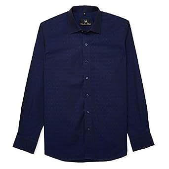 Niralee Shah Dress Shirt for Men - Navy Blue