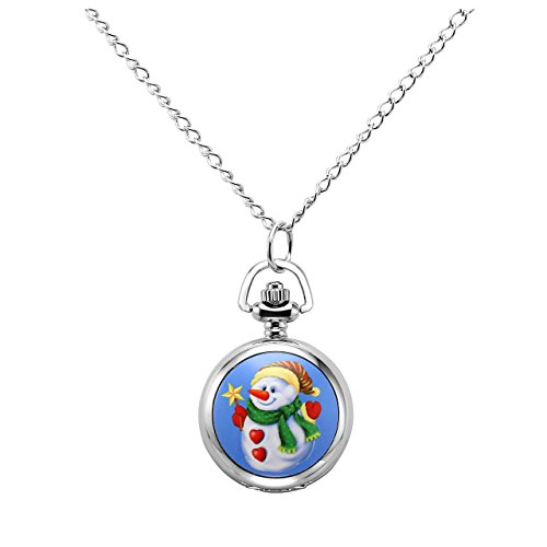 Cute pocket watch pendant necklace for kids