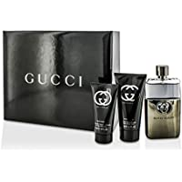 Gucci Guilty Pour Homme Coffret: Eau De Toilette Spray 90ml/3oz + After Shave Balm 75ml/2.5oz + All Over Shampoo 50ml/1.6oz 3pcs