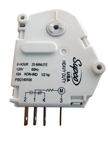 Supco SPG1401GE 6 Hour 25 Minute Defrost Timer For GE WR9X480, Gemline CC923, Maytag R0168026 Description change to:Supco SPG1401GE 6 Hour 25 Minute Defrost Timer