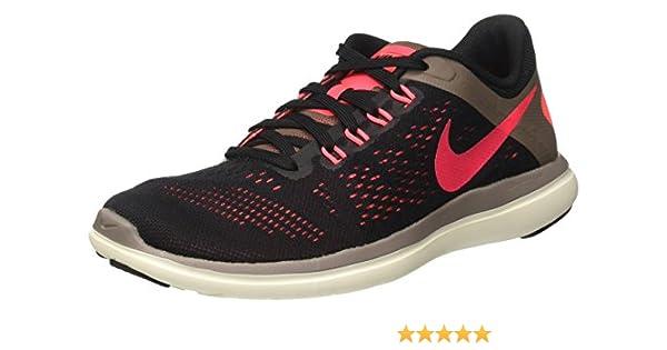 Nike Wmns Flex 2016 RN, Zapatillas de Running para Mujer, (Negro/Rosa/Black/Hot Punch/Dark Mushroom/Sail), 41 EU: Amazon.es: Zapatos y complementos