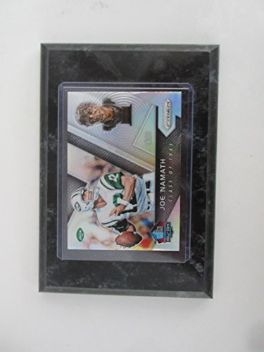 Fame Induction Card - JOE NAMATH NEW YORK JETS 2017 PRIZM CLASS OF 1985 HALL OF FAME INDUCTION CARD MOUNTED ON A 4