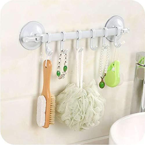 Lookgid Durable Multifunctional Wall Mounted Suction Cup Towel Rack Storage Racks
