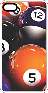 Pool Balls Eight Ball Clear Plastic Case for Apple iPhone 4 or iPhone 4s