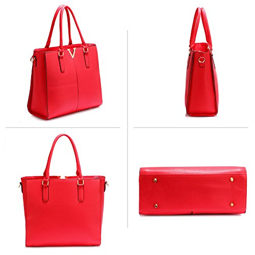 Designer Leather Red Shoulder Bag Fashion For Ladies Women Faux Large Design Style Look Female Tote Bag 1 Handbag New qAzwdUI