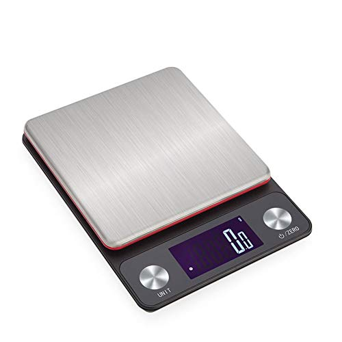 ZCY Digital Kitchen Food Scale, 10Kg/0.1g Multifunction Stainless Steel Weighing Postal Electronic Scales LCD Backlight Display (Capacity : 3kg/0.1g) (Convert 3-3 Kg To Lbs And Oz)