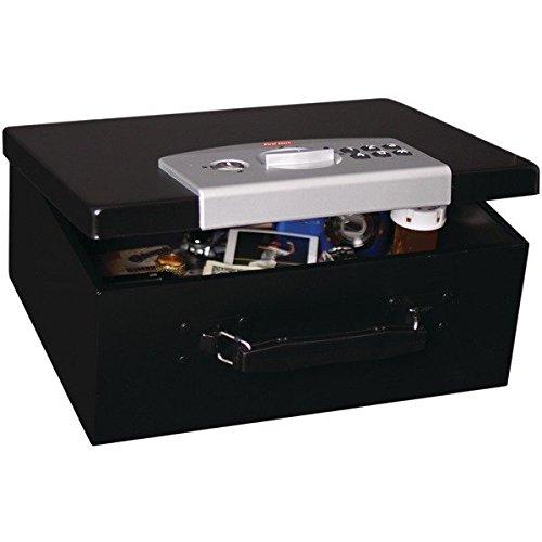 First Alert 3035DF Black & Silver Digital Locking Steel Security Box