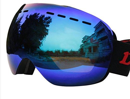 OTG Ski Goggles Over Glasses for Men,Women - Optical Prescription Spherical REVO Anti fog Lens - Helmet Compatible,Large Frame - for Skiing,Snow,Snowboarding,Snowmobile Winter sport (Revo - Goggles Ski Over Glasses