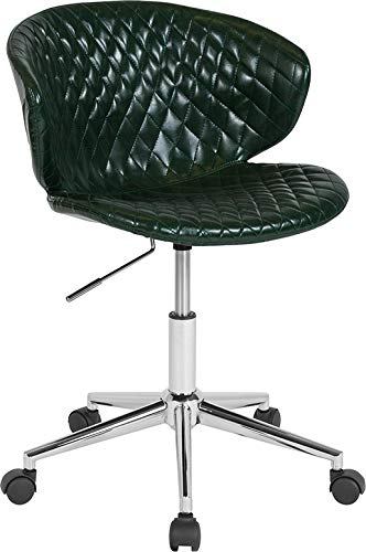 - StarSun Depot Cambridge Home and Office Upholstered Mid-Back Chair in Green Vinyl 24.5