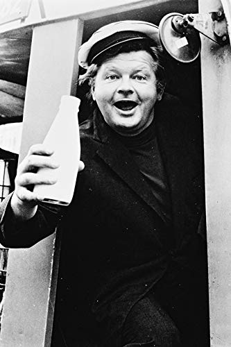Benny Hill 24x18 Poster As Ernie Fastest Milkman In The West! In Milk Cart (Benny Hill Fastest Milk Cart In The West)