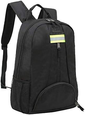 耐久性工具バッグ プロフェッショナルパワーツールバックパックマルチポケット機能テクニシャン防水バッグ 工具収納&仕分け管理&運搬用 (色 : Black, Size : One size)