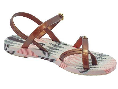 Ipanema 81929 Fashion Sand Iv Fem Beige/Bronze - Sandalias de goma para mujer Beige/Bronze