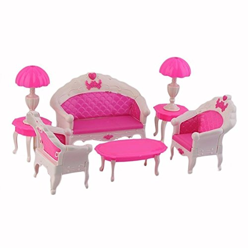 Hot Sale BARGAIN HOUSE Doll House Furniture Toy Set Dollhouse Furniture  Doll Sofa Chair Couch Desk
