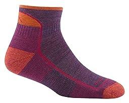 Darn Tough Hike/Trek Cushion Quarter Socks - Women\'s Plum Heather Large