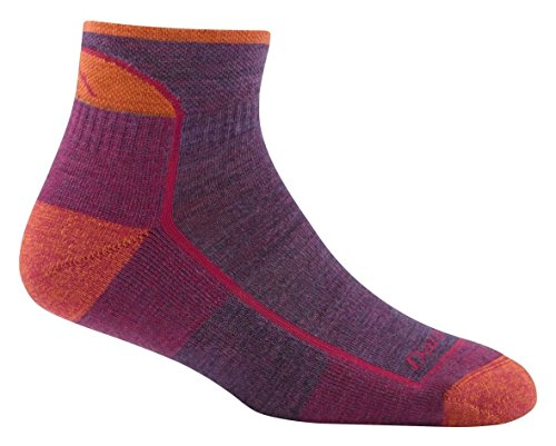 Darn Tough Hike/Trek Cushion Quarter Socks - Women's Plum Heather Medium
