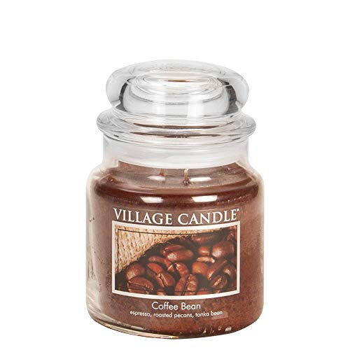 - Village Candle Coffee Bean 16 oz Glass Jar Scented Candle, Medium