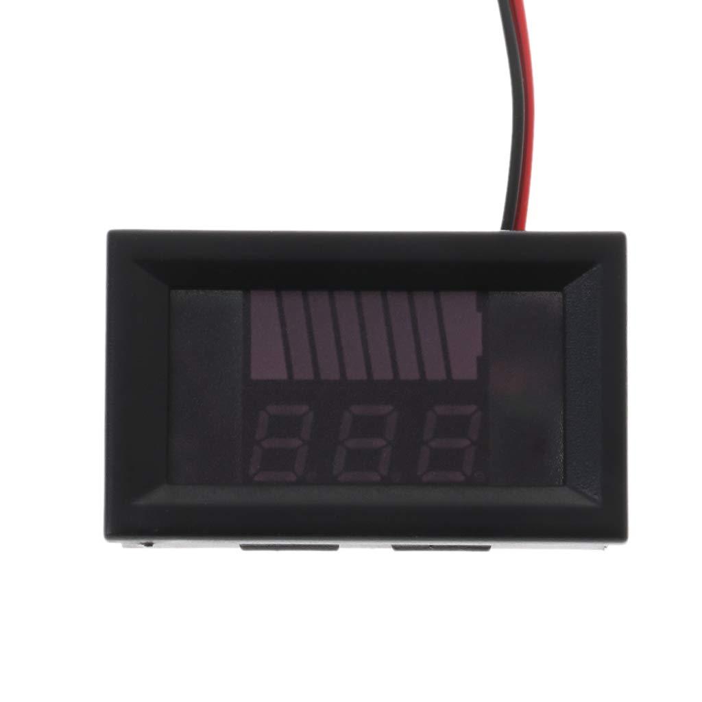 12 V-72 V, Pantalla Digital de Plomo-/ácido Medidor de Capacidad de bater/ía para Coche o Motocicleta William-Lee DC 12V-72V
