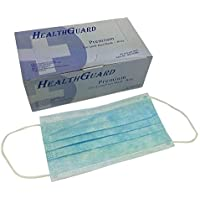 100 PCS (2 BX) 3-Ply Commercial Grade Dental Surgical Medical Disposable EarLoop Face Masks, Latex Free | FDA Registered & Approved!