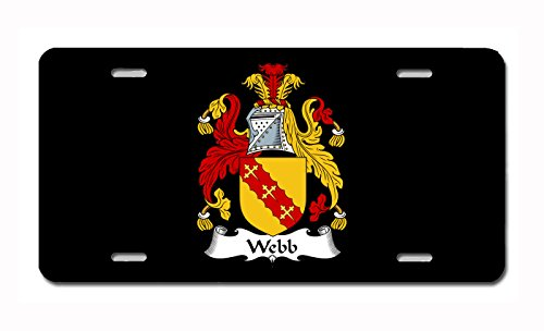 (Carpe Diem Designs Webb Coat of Arms/Webb Family Crest (Ireland) License/Vanity Plate - Made in The U.S.A.)