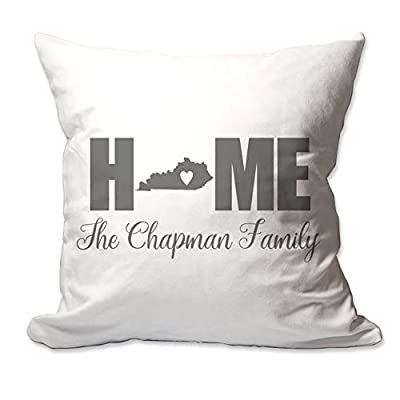 Pattern Pop Personalized Kentucky Home with Heart Throw Pillow Cover - 17 X 17 Throw Pillow Cover (NO Insert) - Complete Decorative Throw Pillow Cover