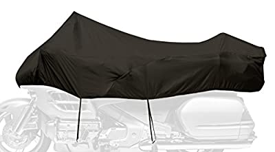 Dowco Guardian 05140 Travel Ready Water Resistant Reflective Premium Motorcycle Half Cover: Black, Large Touring