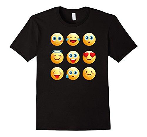 Mens Halloween Emojis Costume Shirt with Different Emotions Large (Cute Different Halloween Costume Ideas)