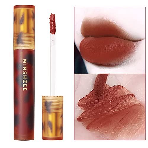 New Matte Nourishing Lipstick Velvet Long Lasting Waterproof Lip Gloss for Women 4g (A)