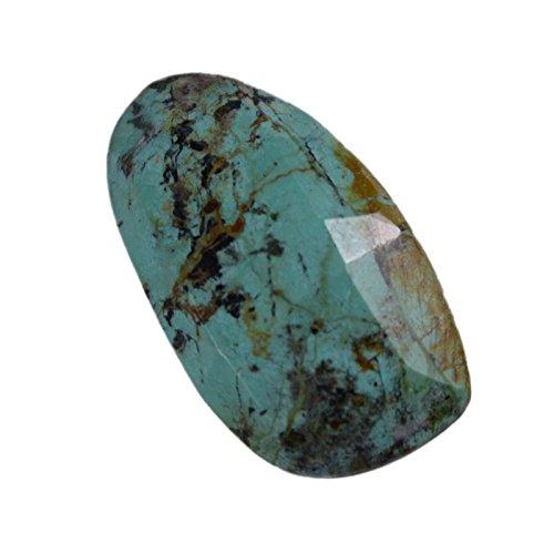 divineimpex 6.2 CTS 100 %天然ターコイズファンシーなチェッカーボードLoose宝石pg-106905   B0764B1SGV