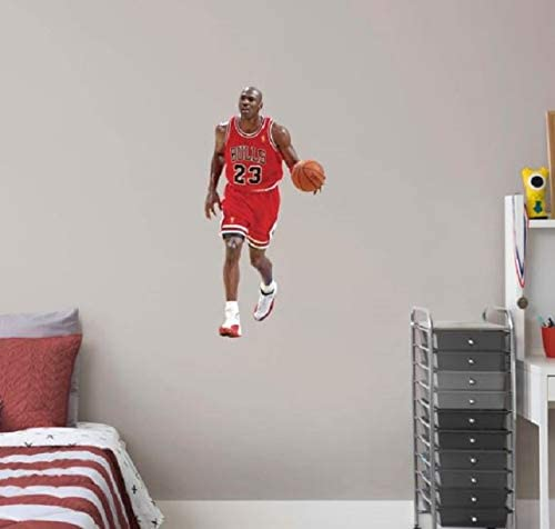 "B00W9Z25YI FATHEAD TEAMMATE Michael Jordan Chicago Bulls Logo Set Official NBA Vinyl Wall Graphics 17"" INCH 41AwQ5pKuML"