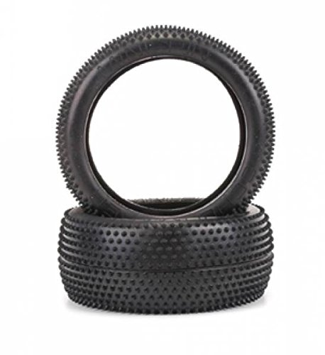 - Schumacher MINI PIN Pair 1-8th Tires+Inserts - Silver