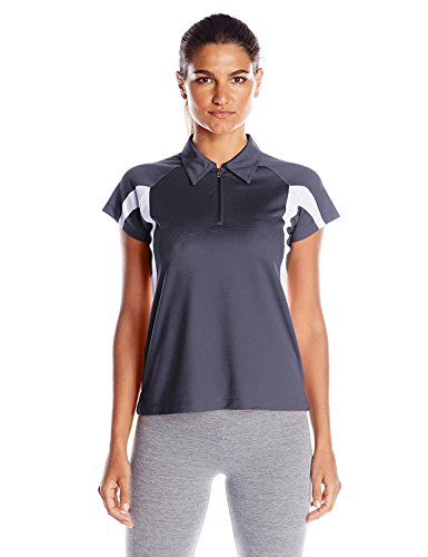 Champion Women's Double Dry Performance Polo, White/Navy, XX-Large