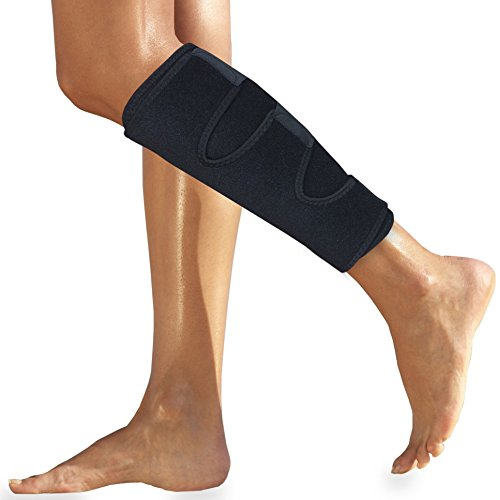 Shin Brace - Calf Brace - Shin Splint Support for Calf Pain Relief Strain Sprain Tennis Leg Injury Best Calf Compression Sleeve - Lower Leg Brace Men Women