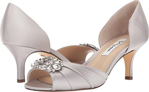 NINA Women's Charisa Silver Crystal Satin 7.5 M US ()