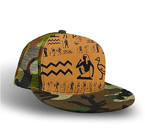 YongColer Casual Baseball Cap Trucker Hat Camouflage Hip Hop Hat (Ancient Egypt Clipart) ()