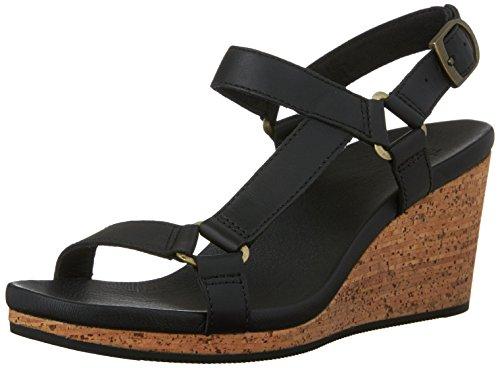 Teva Women's Arrabelle Universal Leather Sandal, Black, 10 M - Sandals Cork Teva