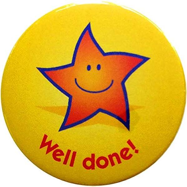 20 pin badges 38mm Star reward badges Super star