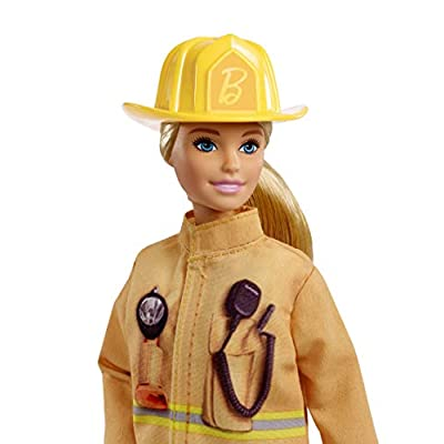 Barbie Firefighter Doll, Blonde, Wearing Firefighter Uniform and Hat, for 3 to 7 Year Olds​​​: Toys & Games