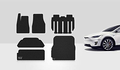 ToughPRO Completed Set Compatible with Tesla Model X (7 Seater Only Built from 8/22/17 and Newer) - All Weather - Heavy Duty - (Made in USA) - Black Rubber - 2017, 2018, 2019