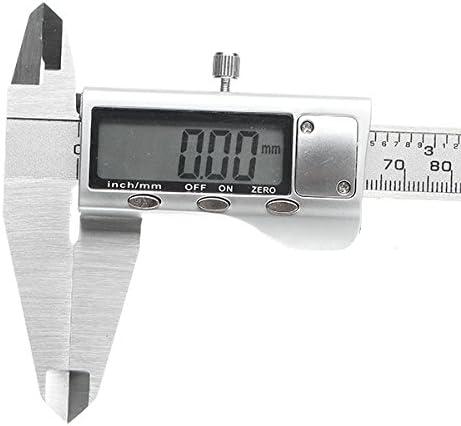 Queenwind デジタルキャリパー 0-200mm 0.01 mm ステンレススチール電子バーニアキャリパーメートル/インチ測定ツール