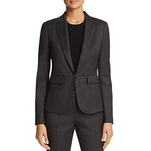 Hugo Boss BOSS Womens Jafilia Wool Office Wear One-Button Blazer Gray 0