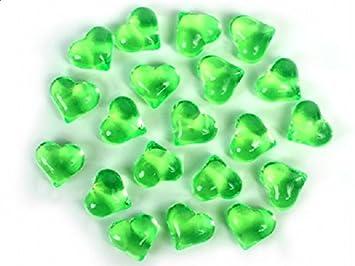 t/ürkis SiDeSo/® Dekosteine Herzdiamanten Herzen 100 St/ück viele Farben Acryl Tischdeko Streudeko Hochzeit