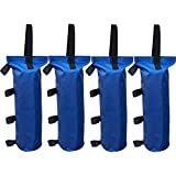 Eurmax Canopy Weights Sand Bags for Ez Pop up Canopy Tent Outdoor Gazebo, 4-Pack (Blue)
