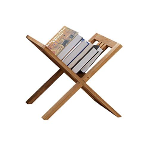 Oak Solid Wood Floorstanding Book Shelf Magazine Rack Newspaper Rack Storage Rack Files Rack (Oak Bookshelf Solid)