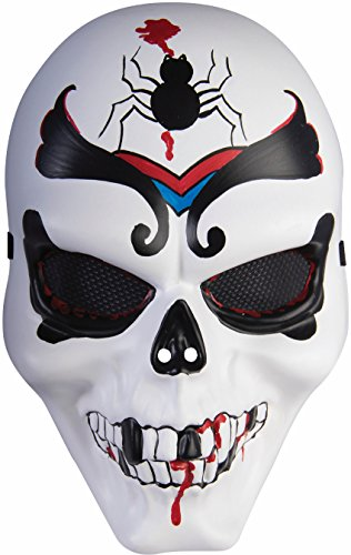 Mexican Cartel Day Of The Dead Scorpion Black Widow Demon Mask (Mexican Day Of The Dead Mask)