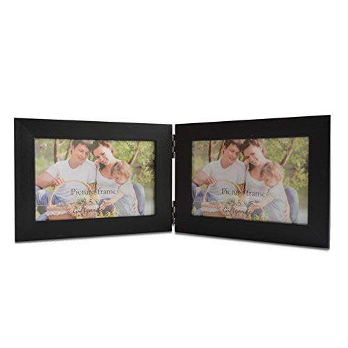 Giftgarden Hinged Picture Frame 3.5x5 Double Photo Frames Horizontal Display 5x3.5 Inch Photograph ()