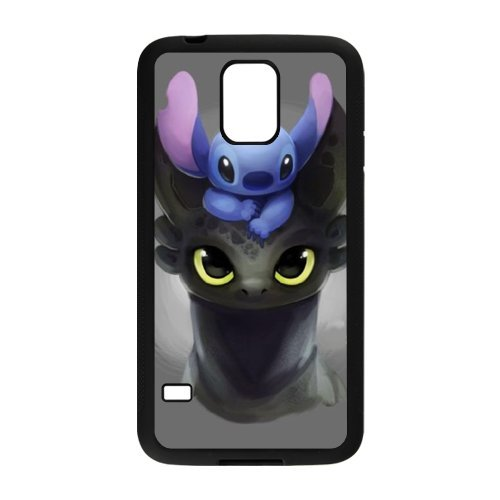 [RAROFU Lilo and Stitch Cartoon Cases Case for Samsung Galaxy S5] (Audreys Costume Castle)