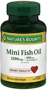 Nature 39 s bounty fish oil 1290 mg mini softgels 90 ct for Nature s bounty fish oil review