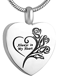 Alwayshere Silver Cremation Urn Jewelry for Human Ashes - Engravable Memorial Pendant — Keepsakes