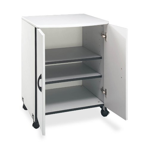 Buddy Products Wood Laser Printer and Copier Stand, 23 x 31.125 x 23 Inches, Gray (9141-18) by Buddy Products