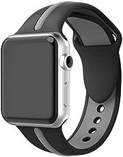 YaYuu Kompatibel für Watch Armband,weich Silikon Ersatz Sport Watch Armbändern für Watch 38mm 42mm Serie 1, Serie 2,Serie 3,Serie 4,Sport,Edition,Hermès